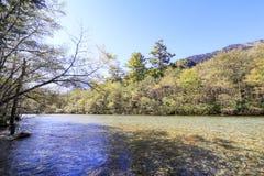 最美好的地方的Kamikochi一在日本 免版税库存照片