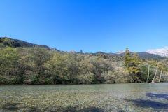 最美好的地方的Kamikochi一在日本 库存照片