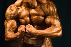 最肌肉的爱好健美者 免版税库存图片