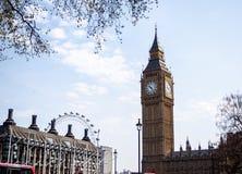 最著名的伦敦地标大本钟,伦敦,英国 免版税库存照片