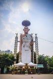 最著名的佛教圣徒的大雕象北泰国;Khruba晁Aphichai Khao Pi纪念碑,李,讽刺文, 库存照片