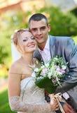 最近结婚的夫妇 免版税库存照片