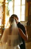 最近结婚的夫妇 库存图片