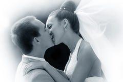 最近结婚的夫妇 库存照片