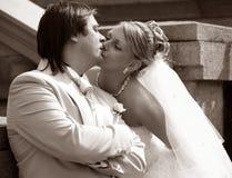 最近结婚配对 免版税库存图片