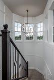 最近被修建的建筑楼梯在家 免版税库存图片