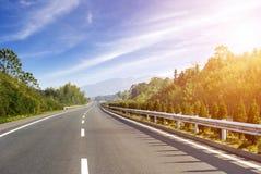 最近被编译的高速公路 免版税库存照片