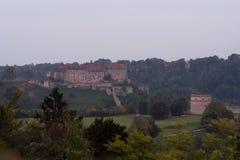最长的城堡在世界上- Burghausen 库存图片