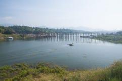 最长的木桥梁 库存照片