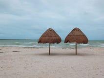 最长的码头在世界上 Progreso,墨西哥 免版税库存图片