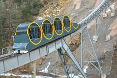 最陡峭缆索铁路在世界上 库存图片