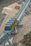 最陡峭缆索铁路在世界上 库存照片