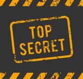 最高机密的不加考虑表赞同的人 免版税库存图片