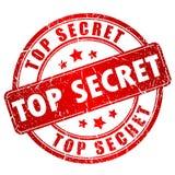 最高机密的传染媒介邮票 库存照片