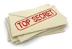 最高机密的信件(包括的裁减路线) 库存图片