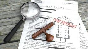 最高机密的文件,被解密的,机密资料,秘密文本 梵蒂冈,教会测面积池 不加考虑表赞同的人和扩大化 向量例证