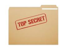 最高机密的文件夹 免版税库存图片