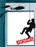 最高机密的间谍背景 免版税库存图片