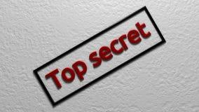 最高机密 在框架的红色题字 3d翻译 数字式例证 图库摄影