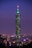 最高的大厦在台湾 库存照片