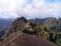 最高的马德拉岛峰顶途径 库存图片