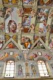 最高限额教堂绘画sistine 免版税库存照片