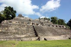 最高caracol的金字塔s 免版税库存照片
