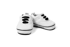 最年轻的孩子的鞋子 图库摄影