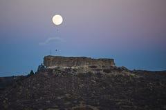 满月上升 库存照片