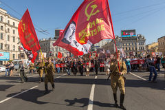 3月不朽的军团,计时对胜利的第71周年在巨大爱国战争中 库存图片