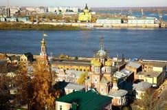 10月五颜六色的下诺夫哥罗德秋天视图  库存照片
