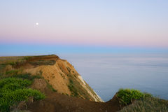 月亮上升七个姐妹& x28; 3& x29; 苏克塞斯,英国 免版税库存照片
