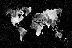 月亮世界地图 免版税库存照片