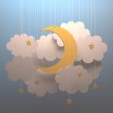 月亮云彩 免版税库存照片