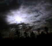 月亮光芒 库存图片