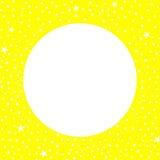 月亮和星黄色边界框架 库存图片