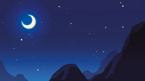 月亮和星 免版税库存照片
