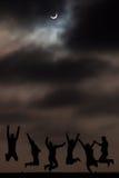 月亮和阴影 免版税库存照片