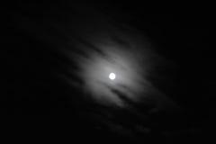 月亮在晚上 免版税图库摄影