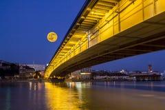 月亮在贝尔格莱德 免版税库存照片