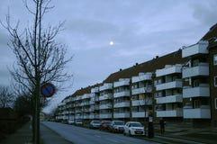 月亮在EALERY星期日早晨 库存图片