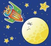 月亮太空飞船 库存例证