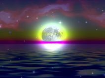 月亮奥秘 库存照片