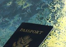 月亮护照 库存图片