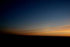 月亮日落 免版税库存照片