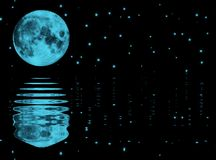 月亮星形 免版税图库摄影