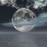 月亮晚上 图库摄影