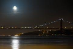 月亮桥梁 库存照片