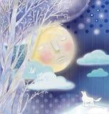 月亮梦想 库存照片