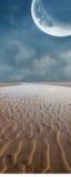 月亮沙子 免版税库存照片